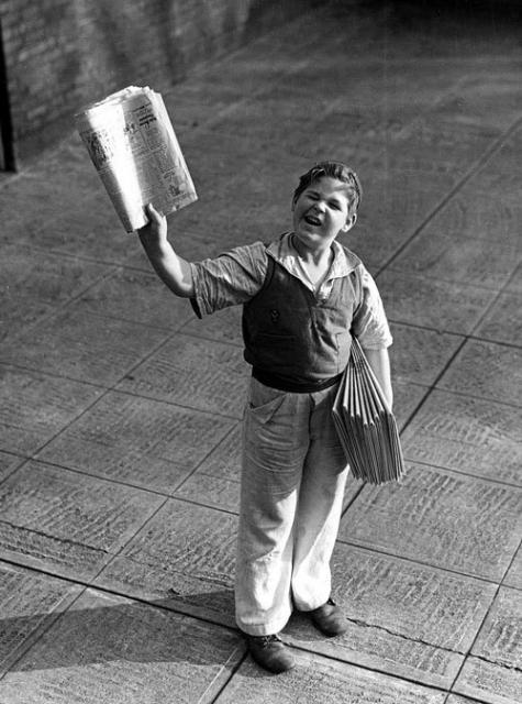Newspaper-boy