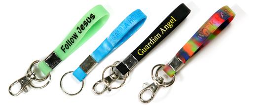 Silicone wristband keychains