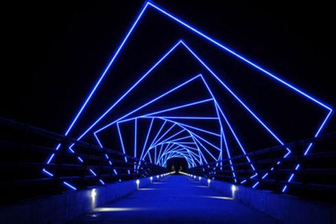 Trail-Bridge-At-Night